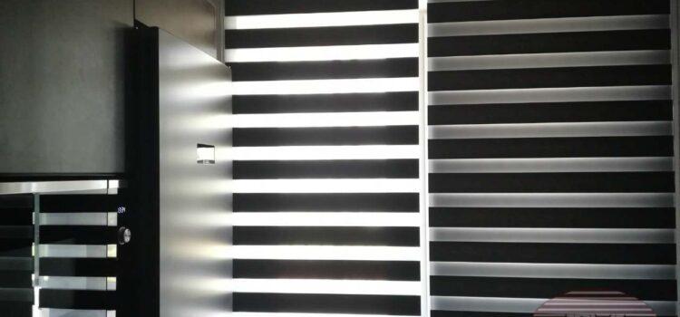 Свободновисящие рулонные шторы Зебра (день/ночь) — Москва, ул.Ярцевская