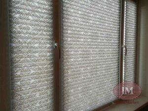 Шторы плиссе в Системе Р1600 из ткани Девон 1852 серый - Москва, ул. Одесская