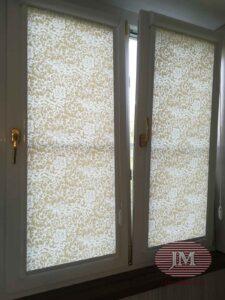 Рулонные шторы в системе UNI2 из ткани Сильвия св.бежевый - Москва, ул.Катукова