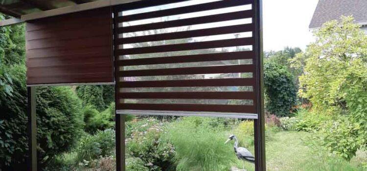 Рулонные шторы Зебра в коробе из ткани Стандарт коричневый — СНТ Ветеран