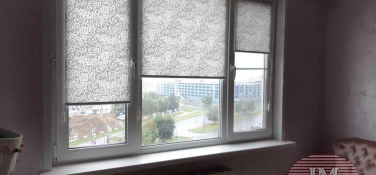 Рулонные шторы в системе MINI из ткани Сильвия св.серый - Москва, ул.Дубравная